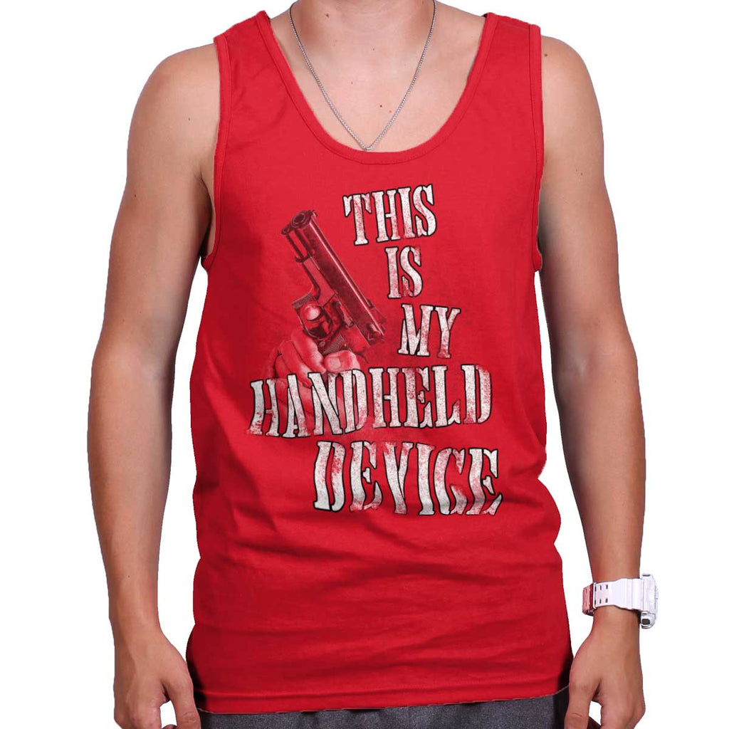 Red|Handheld Device Tank Top|Tactical Tees