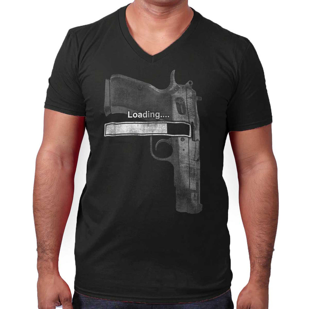 Black|Loading… V-Neck T-Shirt|Tactical Tees