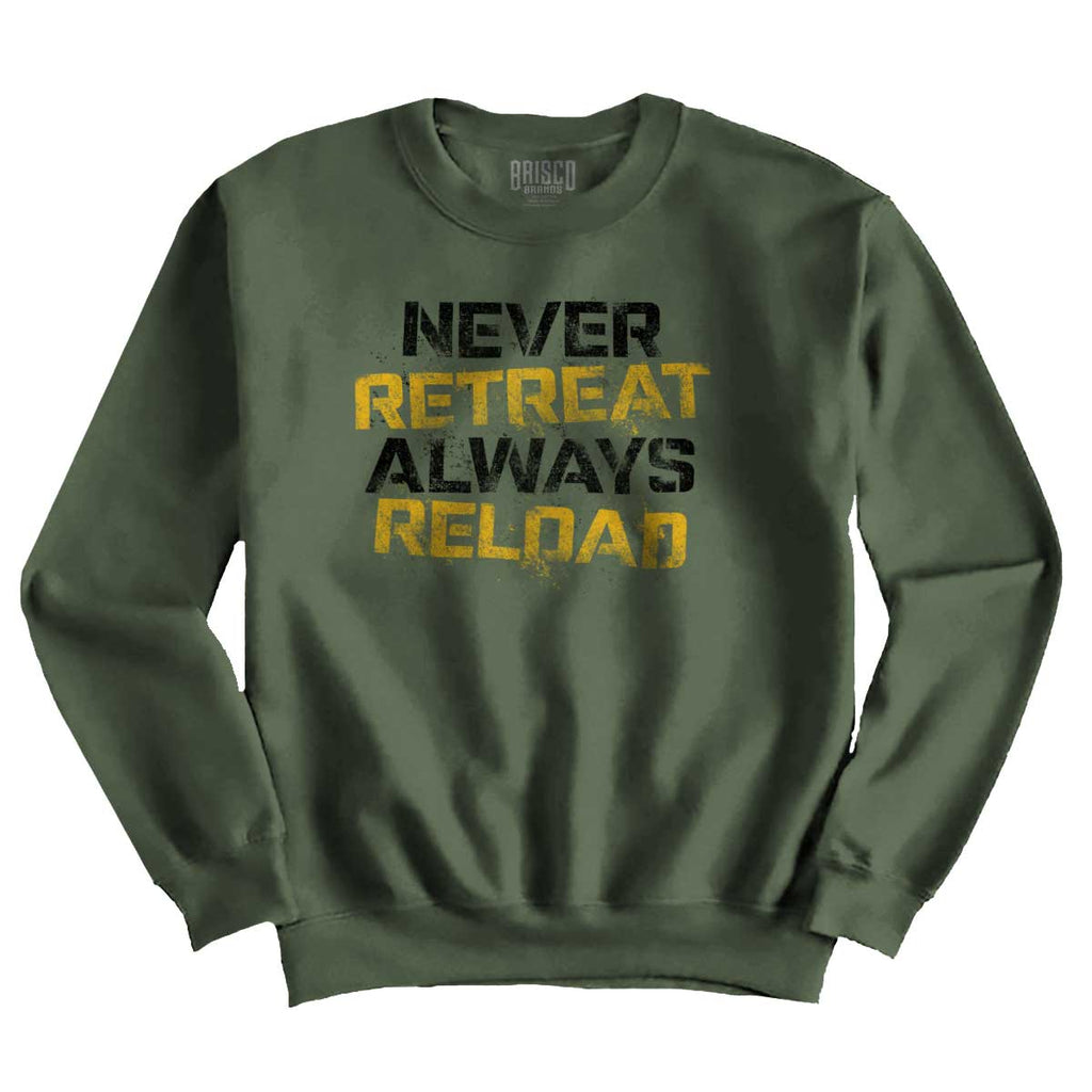 MilitaryGreen|Never retreat Crewneck Sweatshirt|Tactical Tees