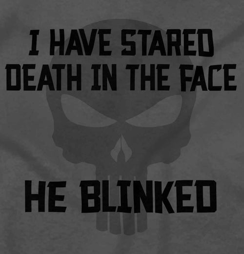 Charcoal2|He Blinked Ladies T-Shirt|Tactical Tees