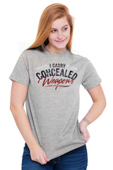 Female_SportGrey1|I Carry Concealed Weapons T-Shirt|Tactical Tees