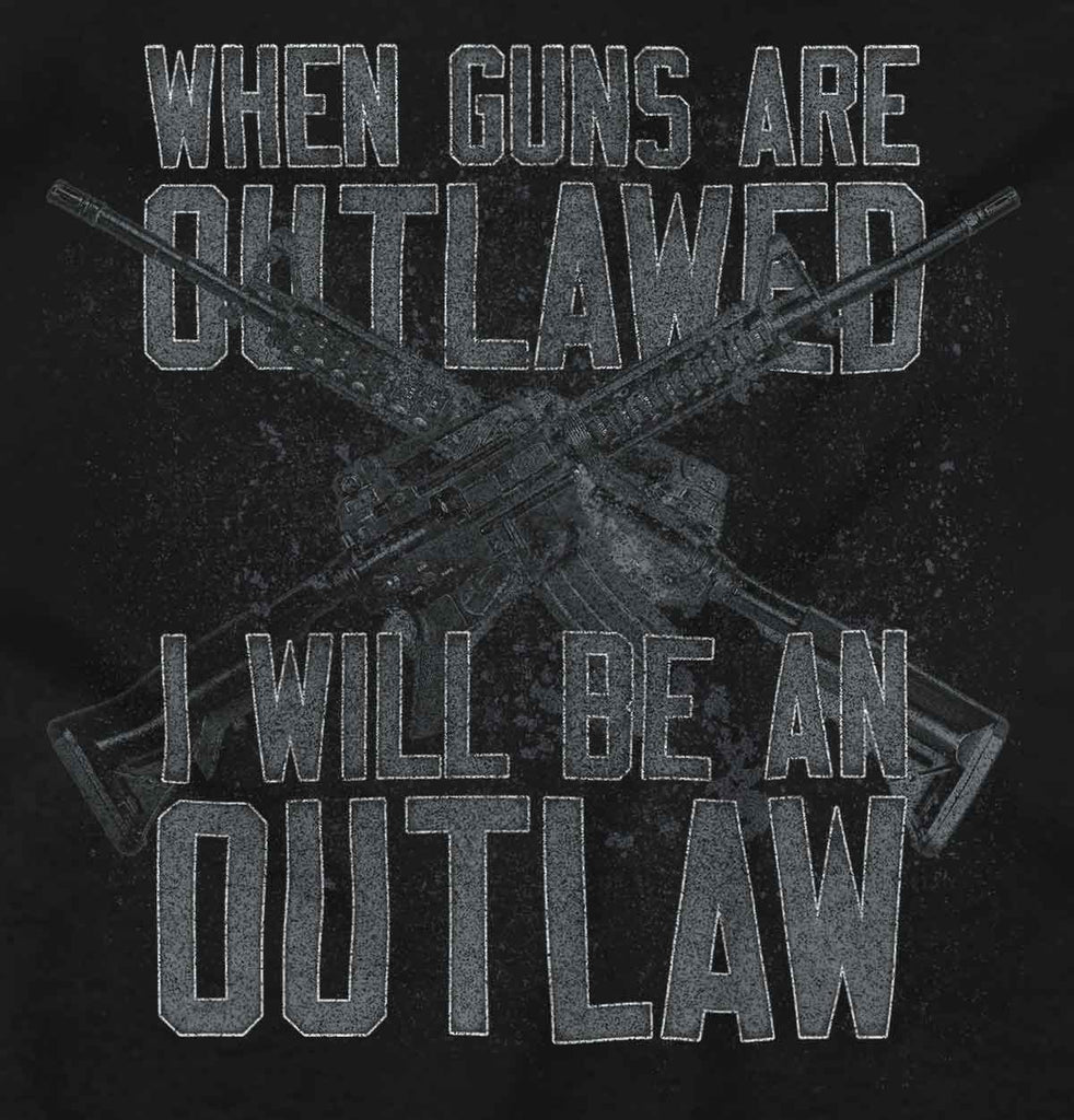 Black2|Outlaw Ladies T-Shirt|Tactical Tees