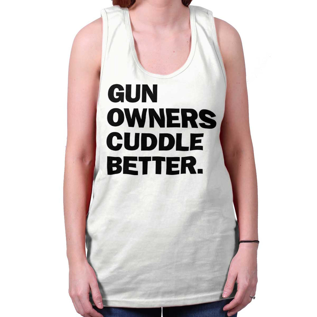 White|Cuddle Better Tank Top|Tactical Tees