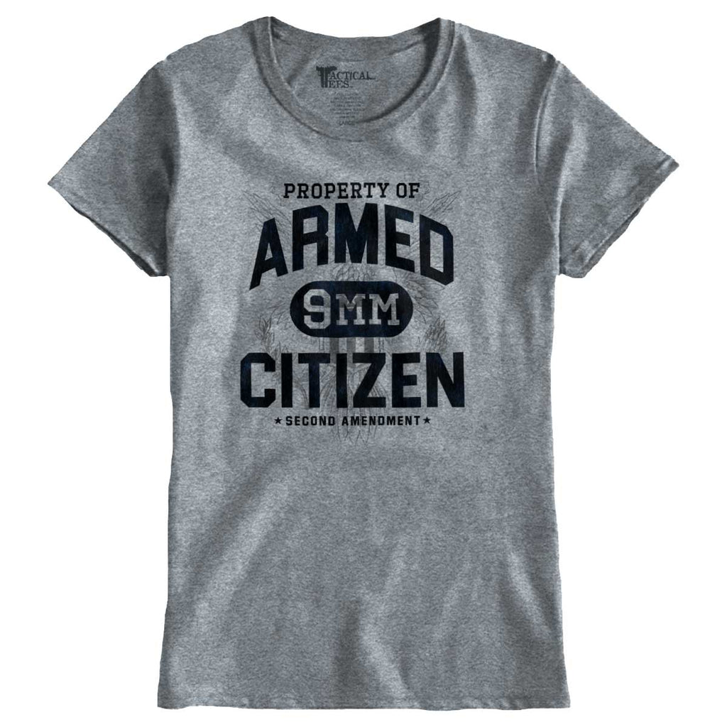 SportGrey|Armed Citizen Ladies T-Shirt|Tactical Tees