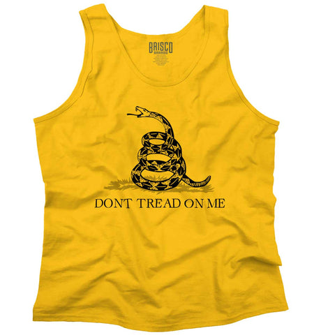 Gold|Don't Tread On Me Tank Top|Tactical Tees