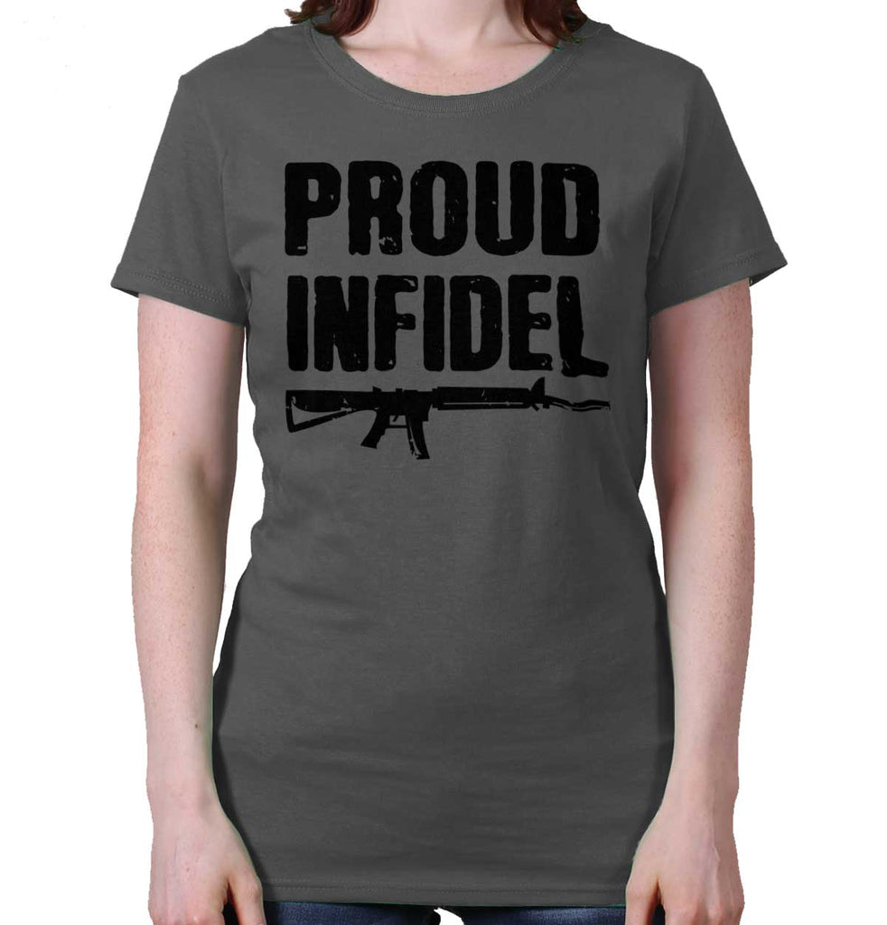 Charcoal|Proud Infidel Ladies T-Shirt|Tactical Tees