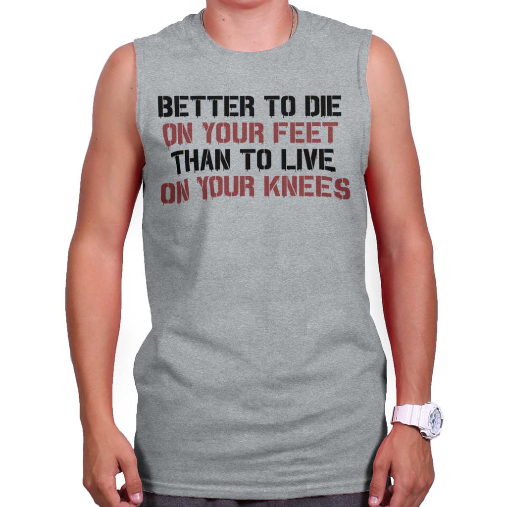 SportGrey|Die on Your Feet Sleeveless T-Shirt|Tactical Tees