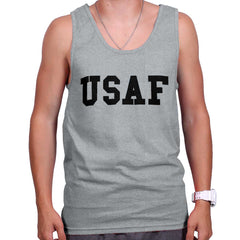 SportGrey|USAF Logo Tank Top|Tactical Tees