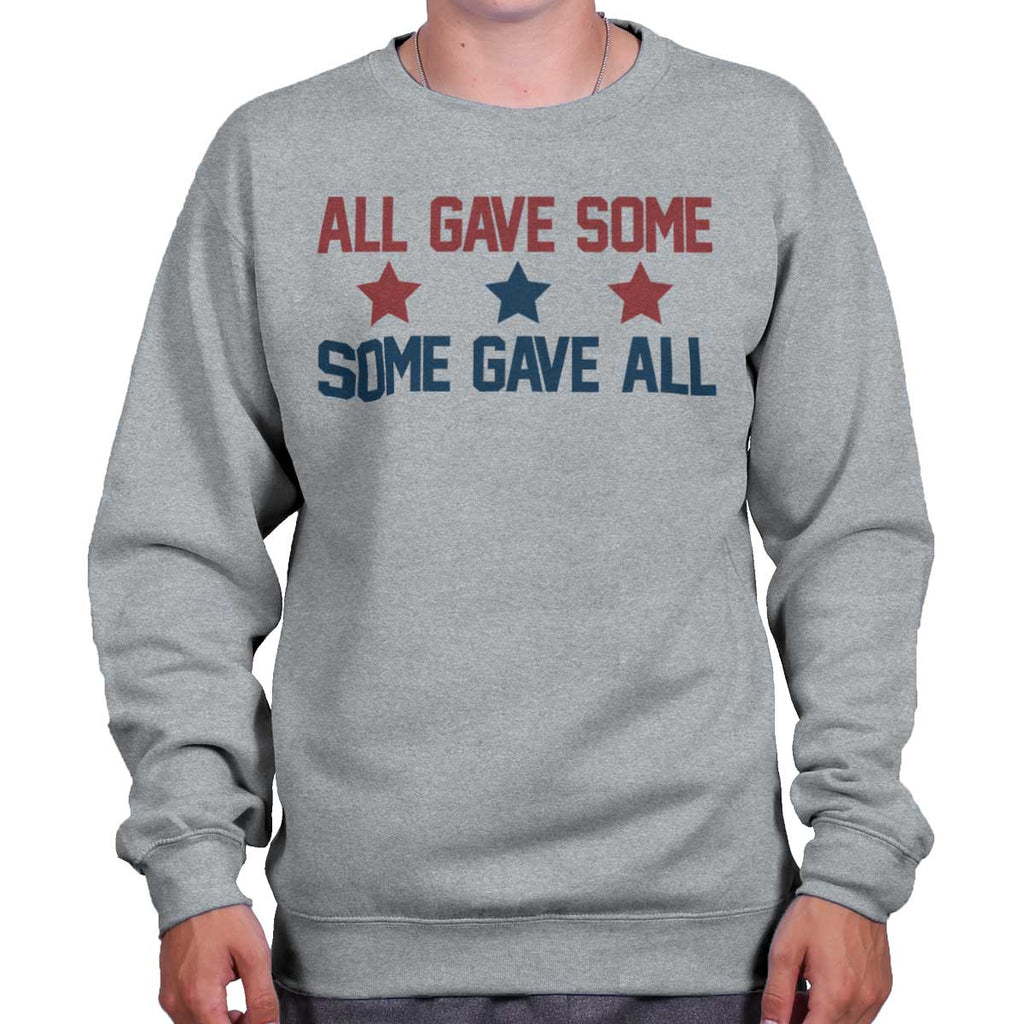 SportGrey|Some Gave All Crewneck Sweatshirt|Tactical Tees