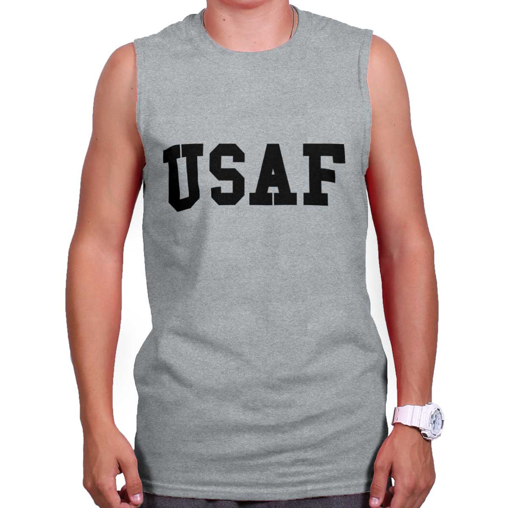 SportGrey|USAF Logo Sleeveless T-Shirt|Tactical Tees