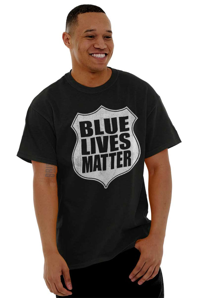 Male_Black2|Blue Lives Matter Shield T-Shirt|Tactical Tees
