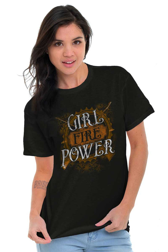 Female_Black1|Girl Fire Power T-Shirt|Tactical Tees
