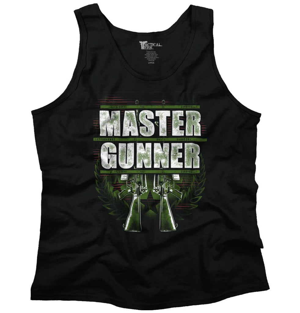 Black|Master Gunner Tank Top|Tactical Tees