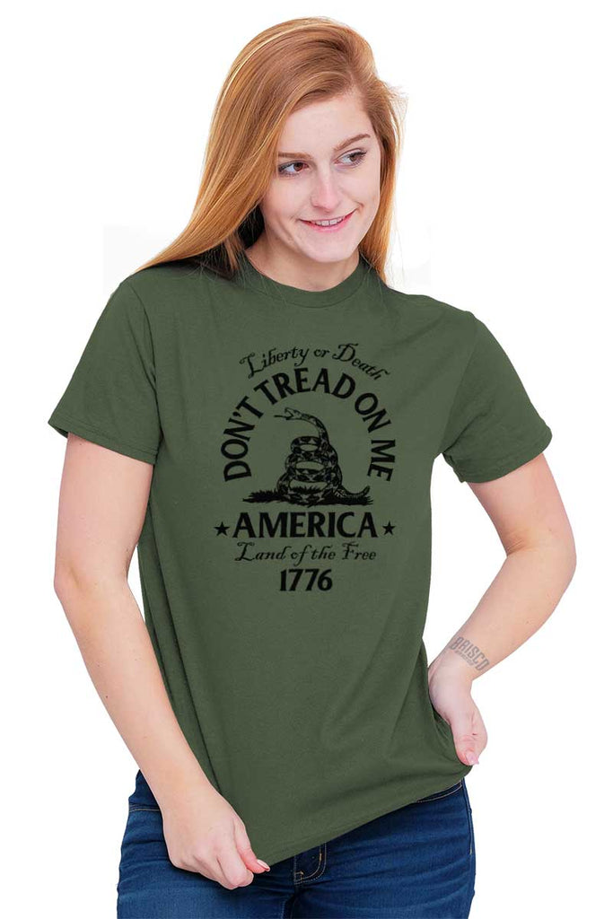 Female_MilitaryGreen2|Dont Tread on Me T-Shirt|Tactical Tees