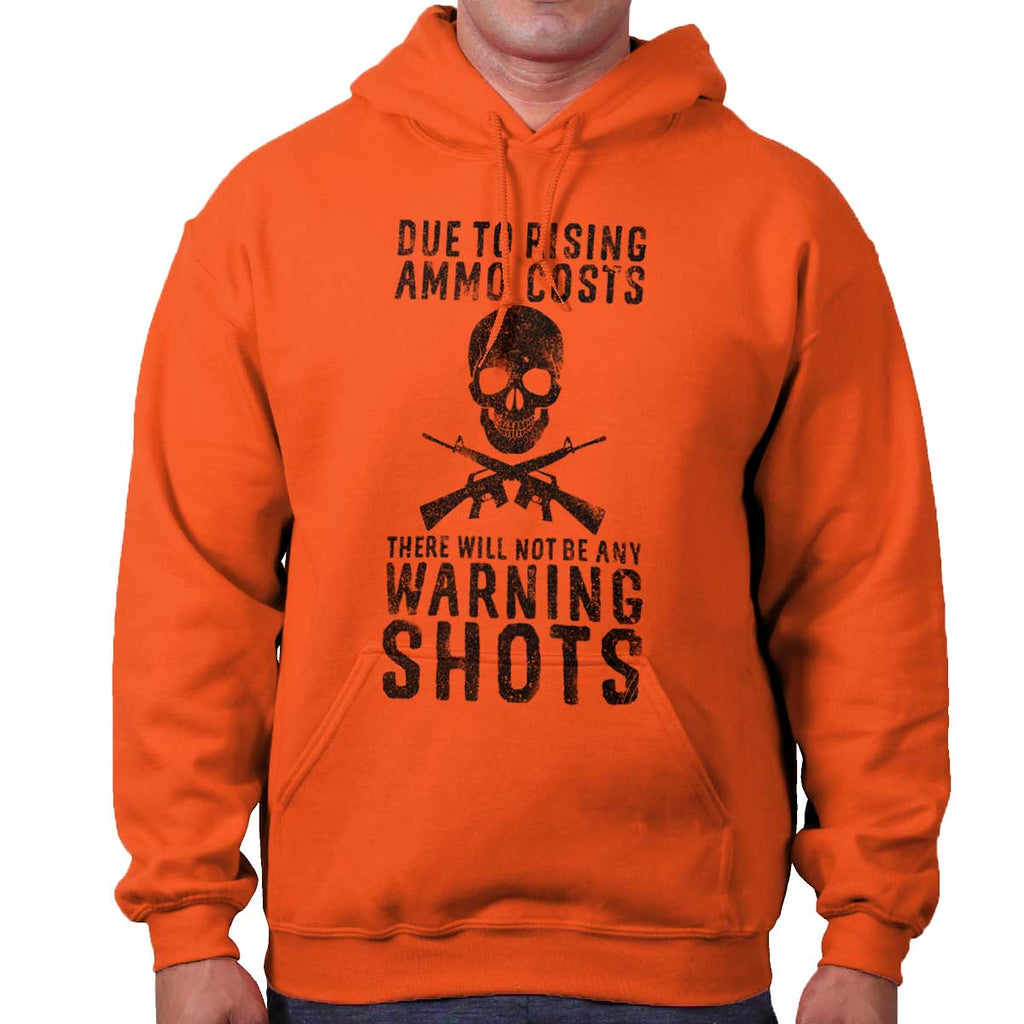 Orange|Warning Shots Hoodie|Tactical Tees