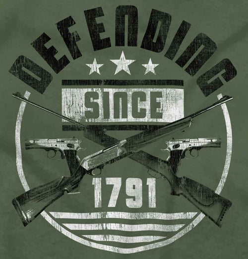 MilitaryGreen|Defending Since T-Shirt|Tactical Tees