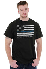 Male_Black1|Blue Lives Matter Honor T-Shirt|Tactical Tees