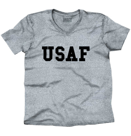 SportGrey|USAF Logo V-Neck T-Shirt|Tactical Tees
