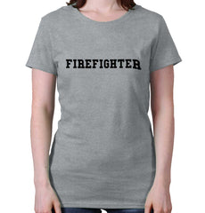 SportGrey|Firefighter Logo Ladies T-Shirt|Tactical Tees