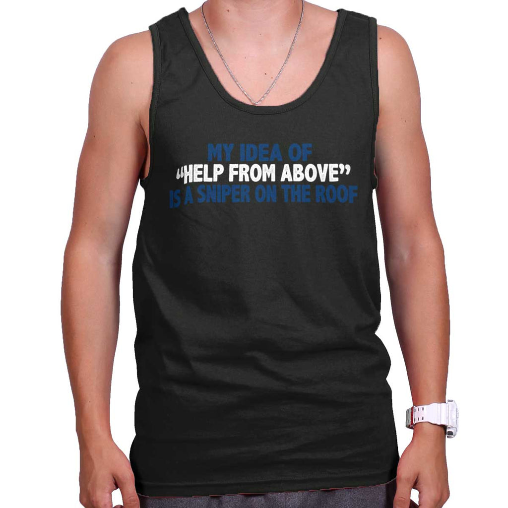 Black|Help From Above Tank Top|Tactical Tees