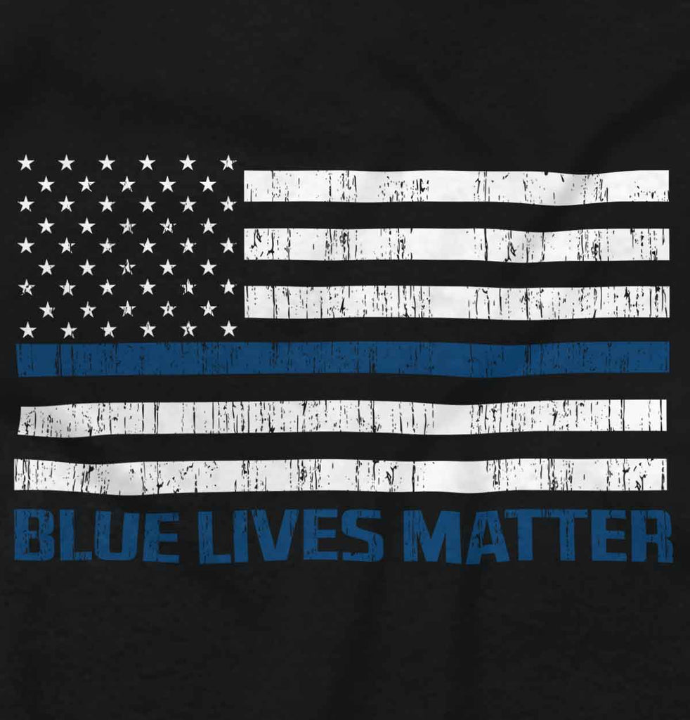 Black2|Blue Lives Matter Flag Tank Top|Tactical Tees