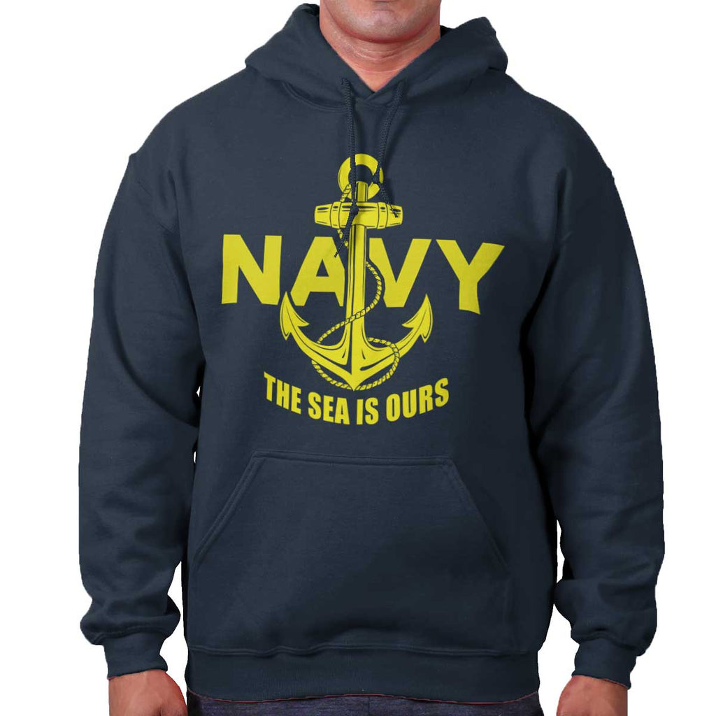 Navy|Sea is Ours Hoodie|Tactical Tees