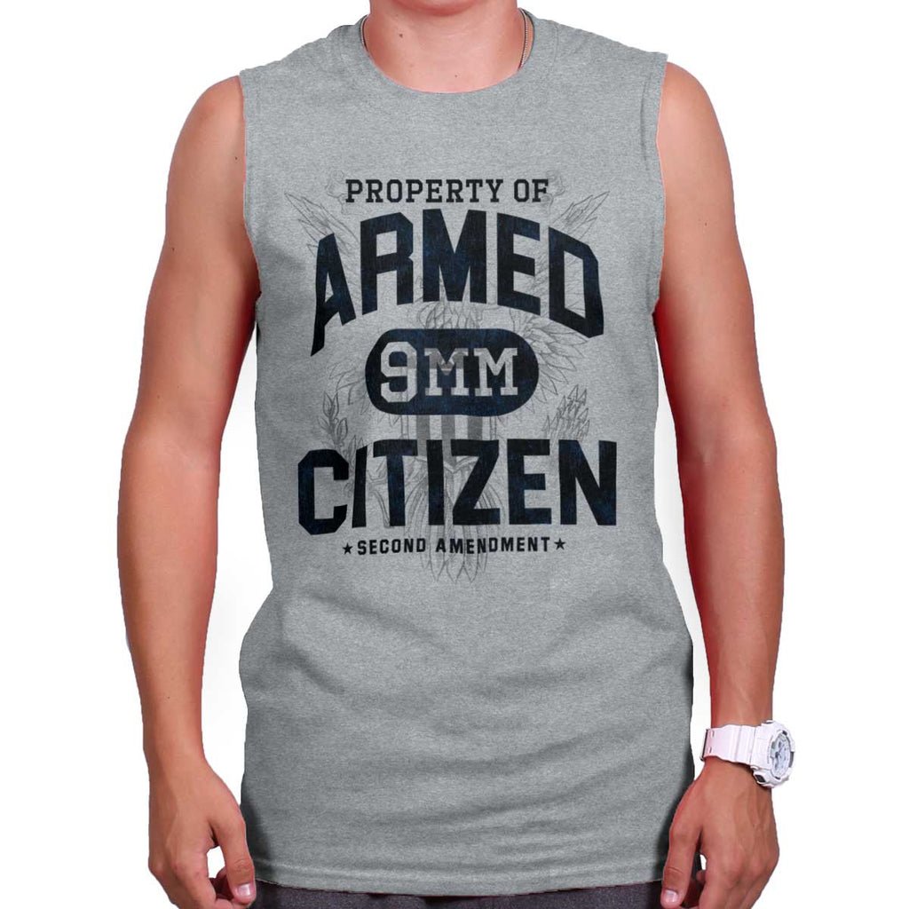 SportGrey|Armed Citizen Sleeveless T-Shirt|Tactical Tees