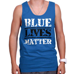 Royal|Blue Lives Matter Bold Tank Top|Tactical Tees