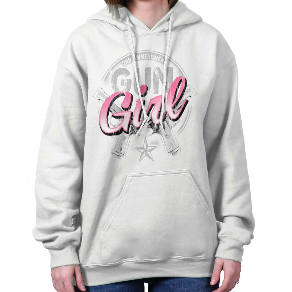 White|Gun Girl Hoodie|Tactical Tees