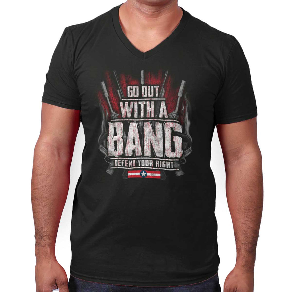Black|Go Out With A Bang V-Neck T-Shirt|Tactical Tees