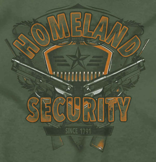 MilitaryGreen|Homeland Security T-Shirt|Tactical Tees