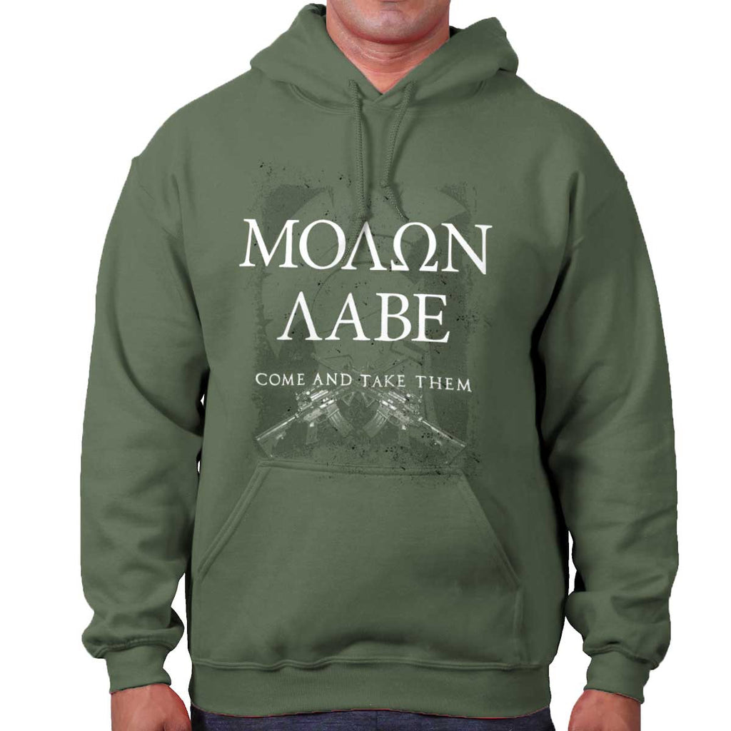 MilitaryGreen|Molon Labe Hoodie|Tactical Tees