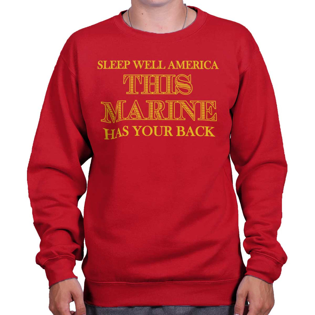 CherryRed|This Marine Crewneck Sweatshirt|Tactical Tees