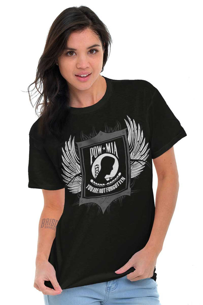 Female_Black2|POW MIA You Are Not Forgotten T-Shirt|Tactical Tees