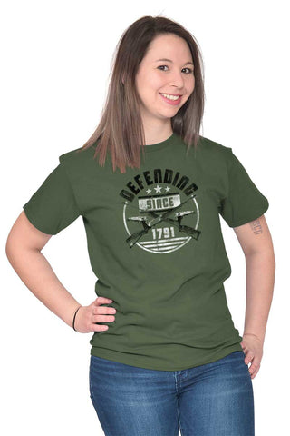 Male_MilitaryGreen1|Defending Since T-Shirt|Tactical Tees