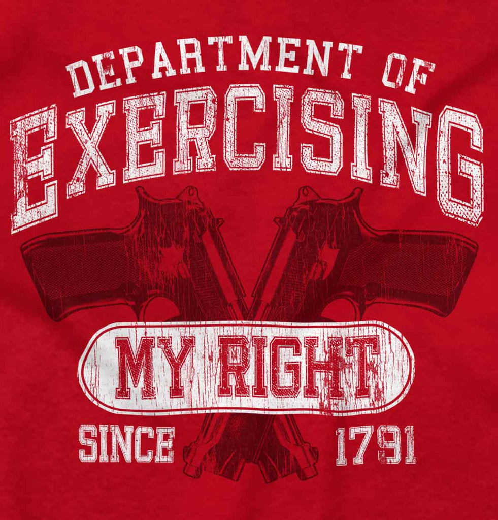 CherryRed2|DepartMalet of Exercising My Right Junior Fit V-Neck T-Shirt|Tactical Tees