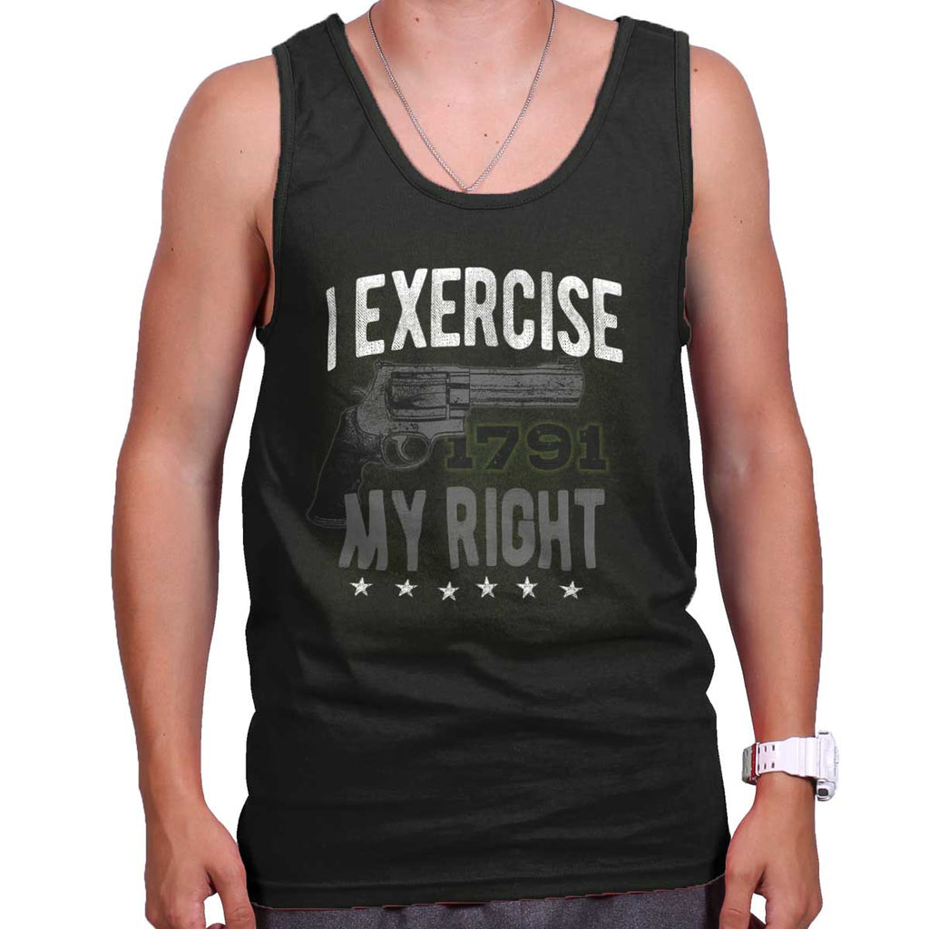 Black|I exercise My Right Tank Top|Tactical Tees