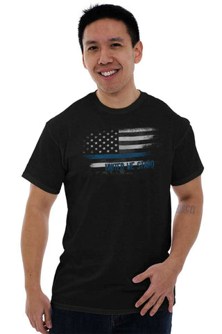 Male_Black1|Blue Lives Matter Fade T-Shirt|Tactical Tees