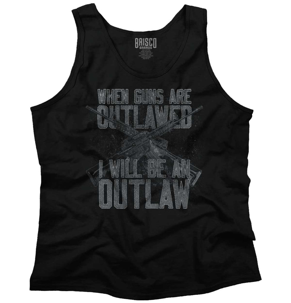Black|Outlaw Tank Top|Tactical Tees