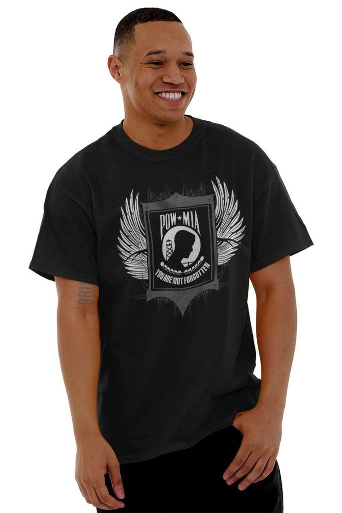 Male_Black1|POW MIA You Are Not Forgotten T-Shirt|Tactical Tees