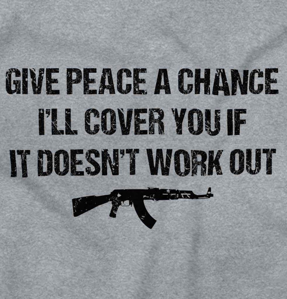 SportGrey2|Peace a Chance Crewneck Sweatshirt|Tactical Tees