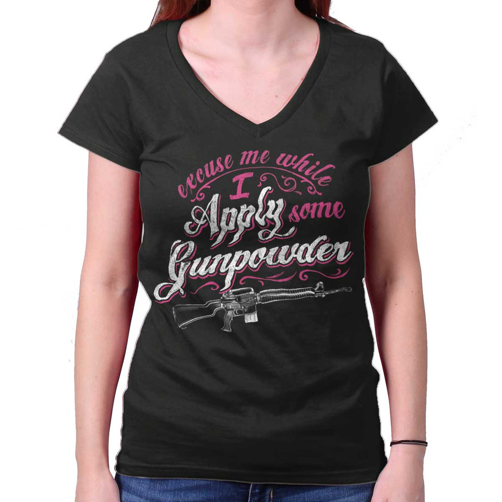 Black|Gunpowder Junior Fit V-Neck T-Shirt|Tactical Tees