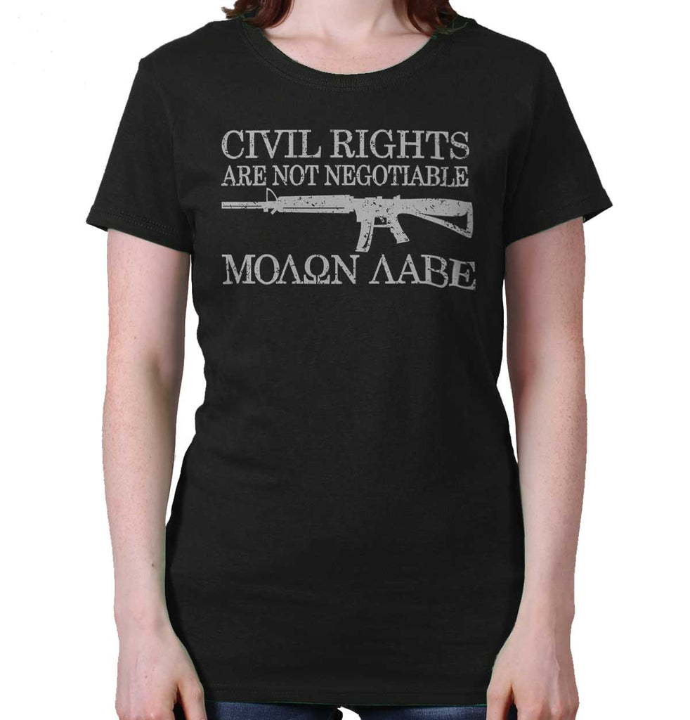 Black|Civil Rights Ladies T-Shirt|Tactical Tees