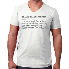 White|Politically Correct V-Neck T-Shirt|Tactical Tees