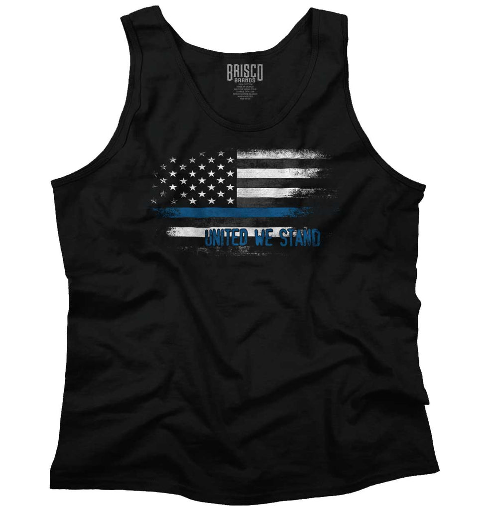 Black|Blue Lives Matter Fade Tank Top|Tactical Tees
