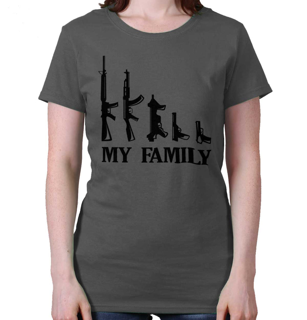 Charcoal|My Family Ladies T-Shirt|Tactical Tees