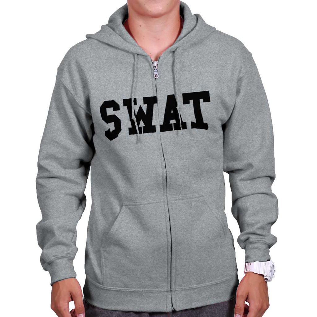 SportGrey|SWAT Logo Zipper Hoodie|Tactical Tees