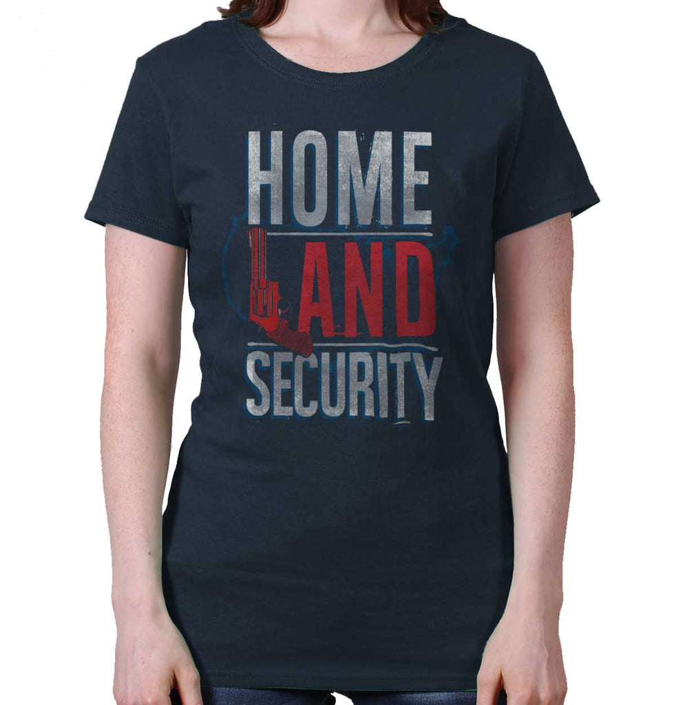 Navy|Homeland Security Ladies T-Shirt|Tactical Tees