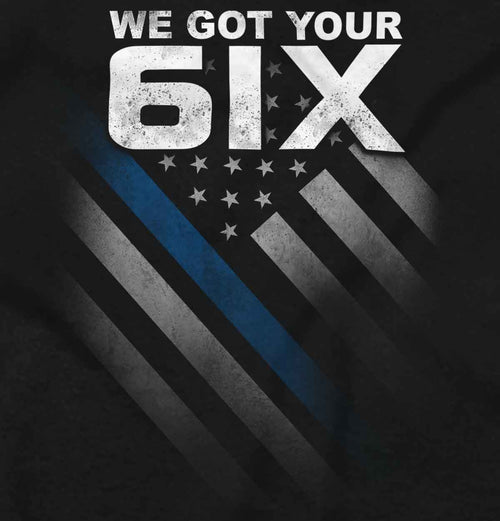 Black2|Blue Lives Matter 6 V-Neck T-Shirt|Tactical Tees