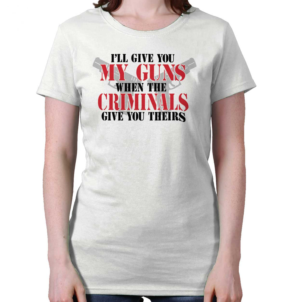 White|Criminals Ladies T-Shirt|Tactical Tees